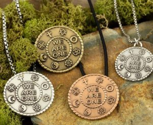 group of traveling peace pendants