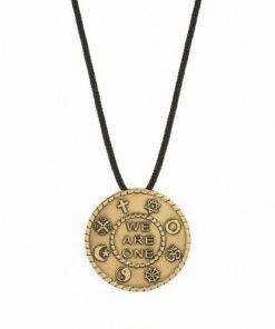 Large brass pendant