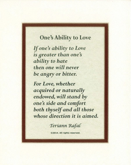 Ones Ability to Love